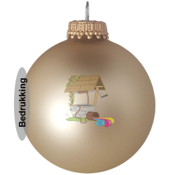 Kerstballen aan 1 kant bedrukken