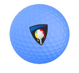 blauwe golfballen bedrukken bij wishyourprint.com